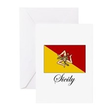 Sicilian Flag - Sicily Greeting Cards (Package of
