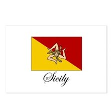Sicilian Flag - Sicily Postcards (Package of 8)
