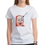 Baby with Fork in Head Women's T-Shirt