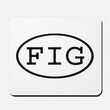 FIG Oval Mousepad