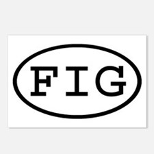 FIG Oval Postcards (Package of 8)