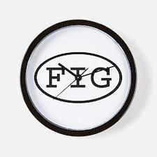 FIG Oval Wall Clock
