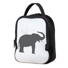 Elephant Silhouette Neoprene Lunch Bag