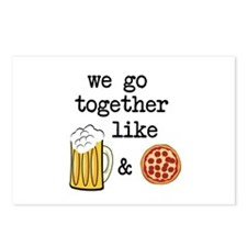 Beer and Pizza Postcards (Package of 8)