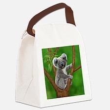 Blue-Eyed Baby Koala Canvas Lunch Bag