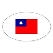 Republic of China Flag Oval Decal