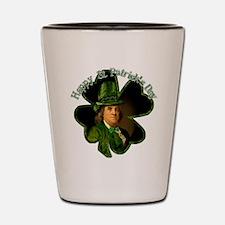 St Patrick's Day Ben Franklin Shot Glass