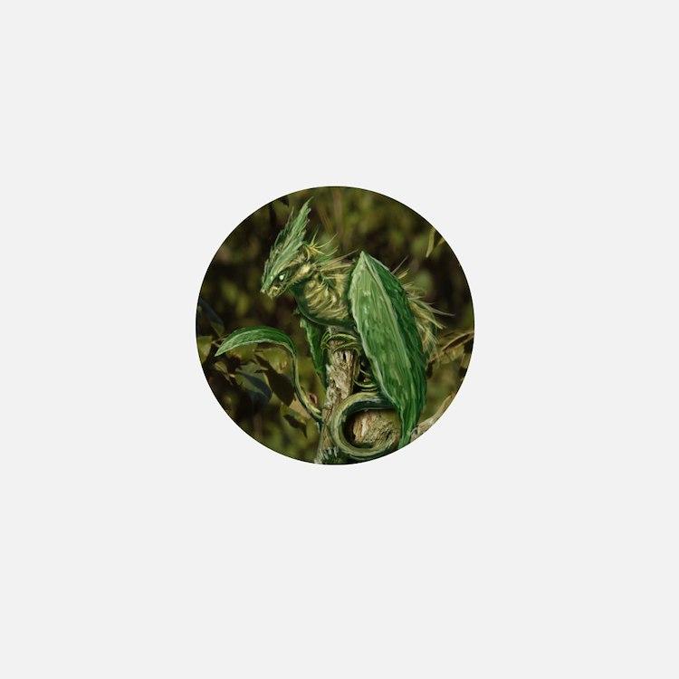Earth Leaf Dragon Mini Button