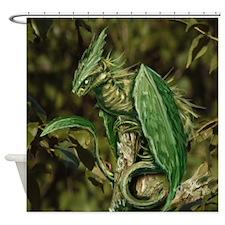 Earth Leaf Dragon Shower Curtain