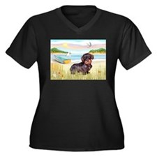 Rowboat / Wire Haired Dachshund Women's Plus Size