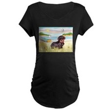 Rowboat / Wire Haired Dachshund T-Shirt