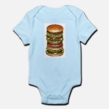 stacked burger drawing art Body Suit