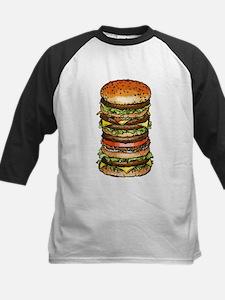 stacked burger drawing art Baseball Jersey