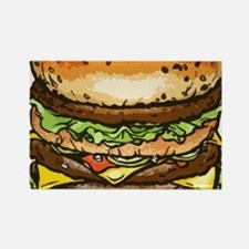 stacked burger drawing art Magnets