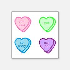 Grumpy Candy Hearts Sticker