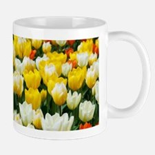 White, Yellow and Orange Tulips Mugs