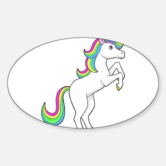 Rainbow Unicorns I love them Decal