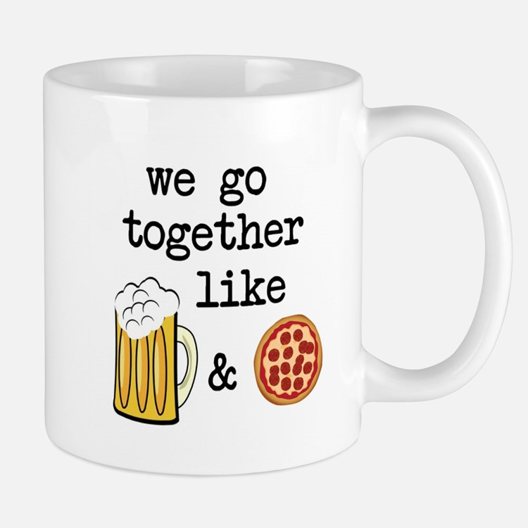 Beer and Pizza Mugs