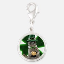 St Patrick's Day Raccoon with Pot of Gold Charms