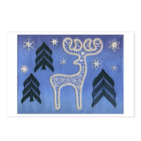 Lace Reindeer Postcards (Package of 8)