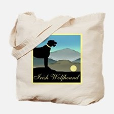 Irish Wolfhound Landscape Tote Bag