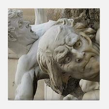 funny fine art statues Tile Coaster