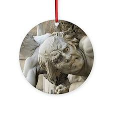 funny fine art statues Ornament (Round)