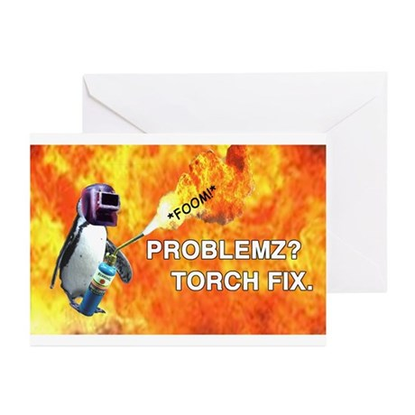 Torch fix all Greeting Cards (Pk of 10)