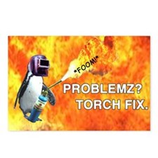 Torch fix all Postcards (Package of 8)