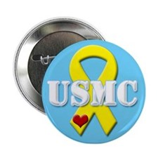 USMC Yellow Ribbon Button
