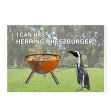 HERRING CHEEZBURGER Postcards (Package of 8)