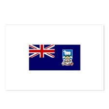 Falkland Islands Flag Postcards (Package of 8)
