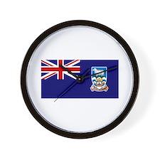 Falkland Islands Flag Wall Clock