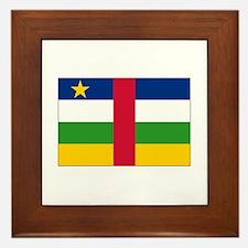Central African Republic Flag Framed Tile