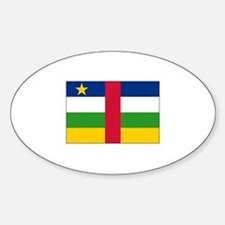 Central African Republic Flag Oval Decal