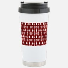 Red and White Kitchen U Stainless Steel Travel Mug