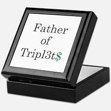Father of Triplets Keepsake Box