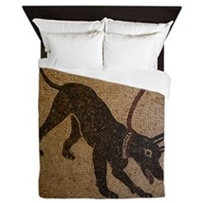Pompeii Dog Mosaic Queen Duvet