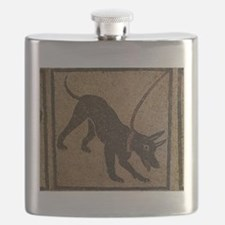 Pompeii Dog Mosaic Flask