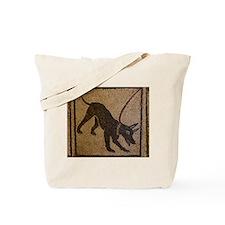 Pompeii Dog Mosaic Tote Bag