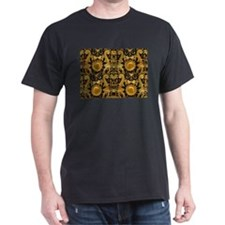 gold black antique pattern T-Shirt