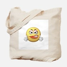 Smiley Giving the Finger Tote Bag