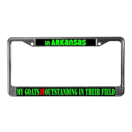 Arkansas Goats License Plate Frame