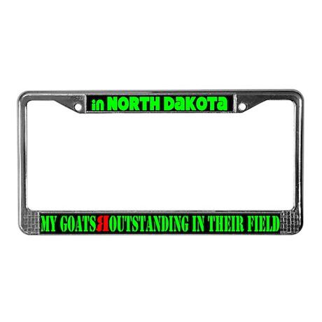 North Dakota Goats License Plate Frame