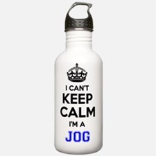 Cute Keep calm and jog on Water Bottle