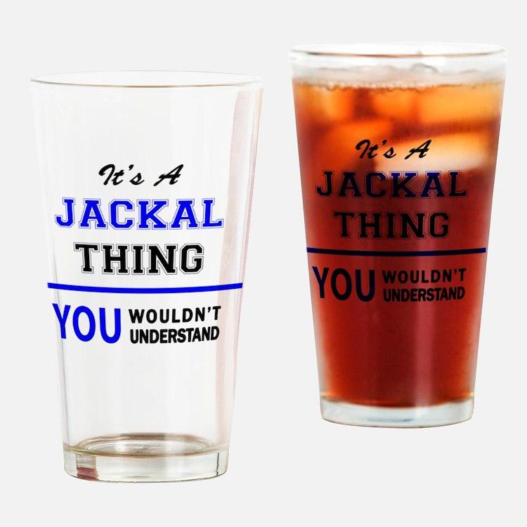 Cute Jackal Drinking Glass
