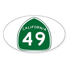 CAL 49 Oval Decal