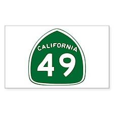 CAL 49 Rectangle Decal