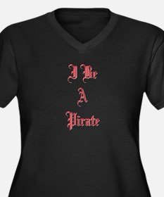 Pirates Women's Plus Size V-Neck Dark T-Shirt