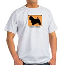 Norwich Terrier (simple-orang T-Shirt